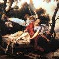 """Abraham sacrificing Isaac"""
